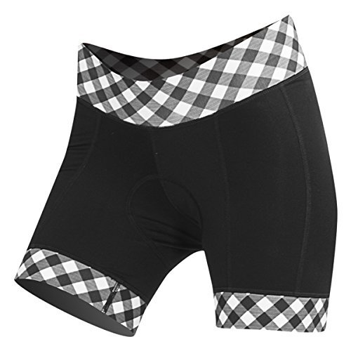 : Womens Clothing Shebeest - SHEBEEST Ultimo Gingham Style Short (Small) Black