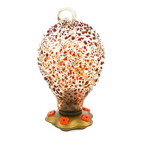 Vivaterra Recycled Glass Balloon Confetti Hummingbird Feeder - 7 H x 4 Dia