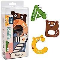 JCREN Jumbo Magnetic Letters Animals Alphabet Toys,Fridge Magnets Stick Colorful Paper ABC Alphabet Uppercase Toy Set…