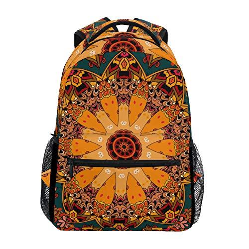 U LIFE Backpack School Bags Laptop Casual Bag for Boys Girls Kids Men Women Vintage Abstract Happy Halloween Pumpkin ()