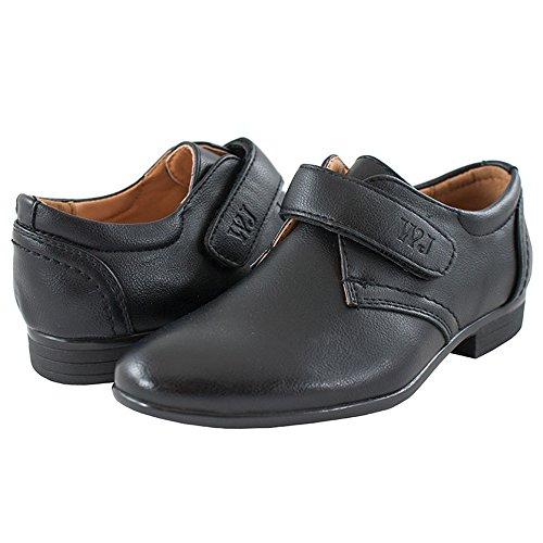 Eleganter Festliche Kommunionschuhe Schuhe mit Klettverschluss Jungen (1387w)