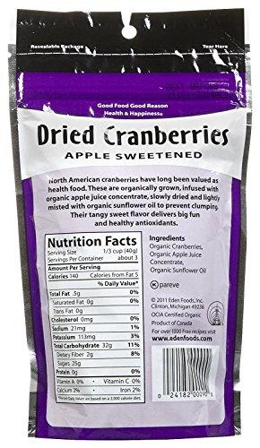 Eden Organic Dried Cranberries, 4 oz Pouches by Eden (Image #1)