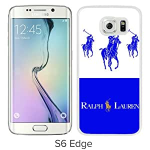 High Quality Samsung Galaxy S6 Edge Case ,Lauren Ralph Lauren 13 White Samsung S6 Edge Cover Unique And Fashion Designed Phone Case