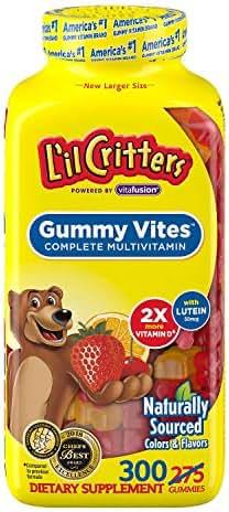 L'il Critters Gummy Vites Children's Chewable Gummy Bear Multivitamin Dietary Supplement, 275 ct. AS