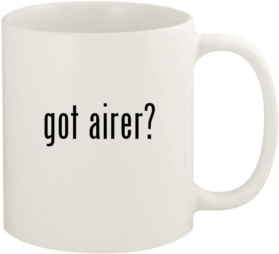 got airer? - 11oz Ceramic White Coffee Mug Cup, White