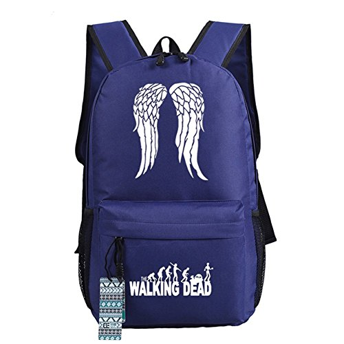 Escuela The White De Walking Blue nbsp;opciones Bolso Wings Dead Bolsa Cosplay 18 luminoso Mochila Casual A04Aqw