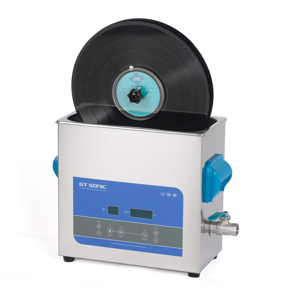 GTSONIC 超音波洗浄機 レコード クリーナー セット レコード 洗浄 デジタル 超音波洗浄器 6L 12インチ レコード洗浄機