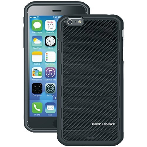 Body Glove Horizontal Case - Body Glove Rise Case for iPhone 6 Plus - Retail Packaging - Black Carbon Fiber