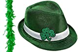 St. Patrick's Day Fedora and Boa set
