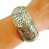 Activity Tracker Bracelet for Fitbit Charge, Charge HR, or Jawbone Up - The SADIE Gold Engraved Activity Tracker Bracelet (Fitbit Charge/Charge HR)