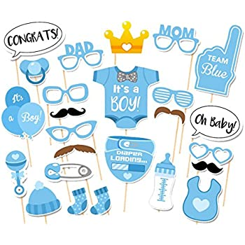 Lovely Crazy Night Crazy Night Itu0027s A Boy Baby Shower Party Photo Booth Props  Kits  25pcs