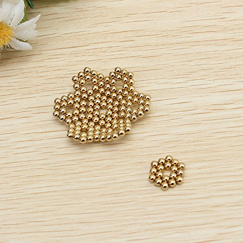 ebf311ee9eca9 3MM 1/8 Inches Magnetic Balls/Beads Round Magnets by IO-Tech (TM) (Set of  50) Multi-Use Craft & Refrigerator Magnets - Round Gold Magnets on Fridge -  ...