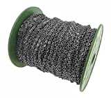 CleverDelights Cable Chain Spool - 330 Feet - Gunmetal (Dark Silver) Color - 3x4mm Link - 100 Meters