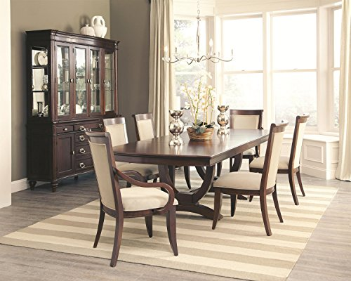 Coaster Alyssa Casual Dining Room Set with Dining Table, 4 x Side Chair and 2 x Arm Chair