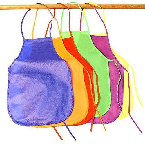 Dazzling Toys 12 Brightly Assorted Colors Kids Artist Aprons (1 Dz) Let Your Little (Future Star) Artists Make Use of Their Talent By Painting, Without Any Pressure of Getting All Dirty