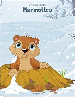 Livre De Coloriage Marmottes 1 Amazonfr Nick Snels Livres