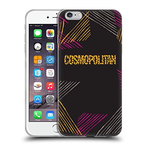 Official Cosmopolitan Leopard Logo Animal Print Soft Gel Case for Apple iPhone 6 Plus / 6s Plus