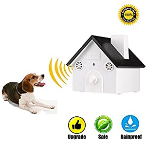 Ultrasonic Outdoor Bark Controller Sonic Bark Deterrents Anti Barking Device Stop Dog Barking Safety, Friendly, 3 Modes with Easy Hanging Birdhouse Shape up to 50 Feet Range(Upgraded)