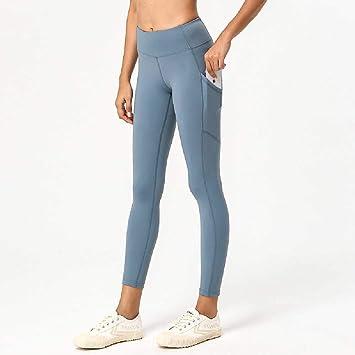 HWWGG Yoga Pantalones Femenino Nueve Doble Cara Desnudo Alta ...