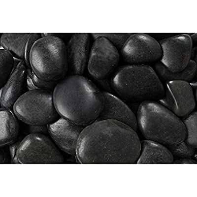 Rainforest RFBRPA3-20 Decorative Pebbles, 20 lb, Grade A Black