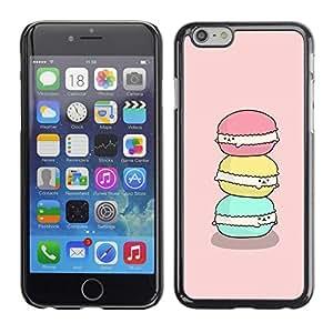 TopCaseStore / la caja del caucho duro de la cubierta de protección de la piel - Happy Green Pink Cute Art - Apple iPhone 6