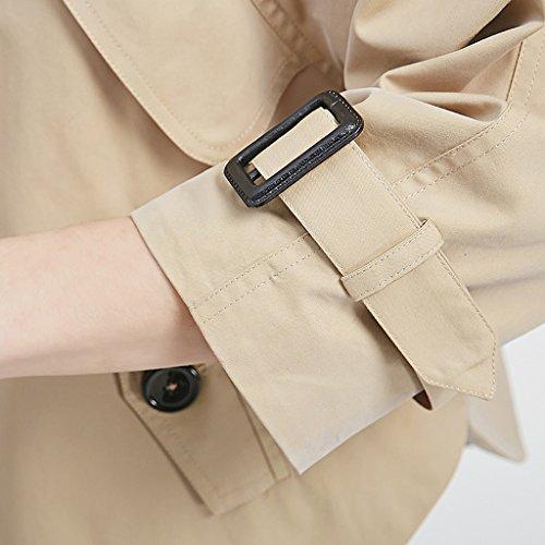 L Dimensioni Shop Breve Abbigliamento Del Li Delle Shi colore Color Donne Molla Manicotto Trincea Color Xiang Della Lunghe Solid Rivestimento Maniche qOUwHSxw