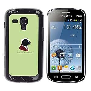 // PHONE CASE GIFT // Duro Estuche protector PC Cáscara Plástico Carcasa Funda Hard Protective Case for Samsung Galaxy S Duos S7562 / Gangster Skunk Animal - Funny /