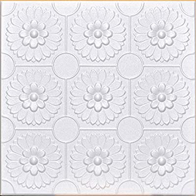 White Styrofoam Ceiling Tile Odessa Package Of 8 Tiles Other Sellers Call This Sunflowers And R136