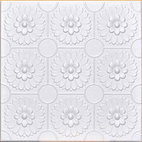 White Styrofoam Decorative Ceiling Tile Odessa (Package of 8 Tiles) - Other Sellers Call This Sunflowers and R136