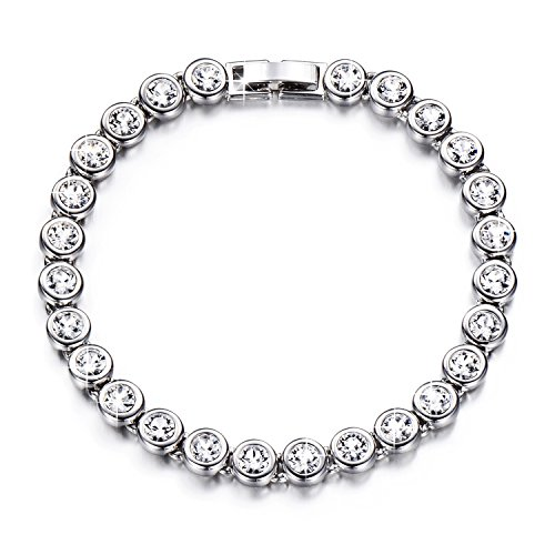 YALONG Tennis Bracelet Made with Swarovski Crystals Bracelets for Women, 7.5 inches, Charming Gifts for Ladies Crystal Tennis Bracelet