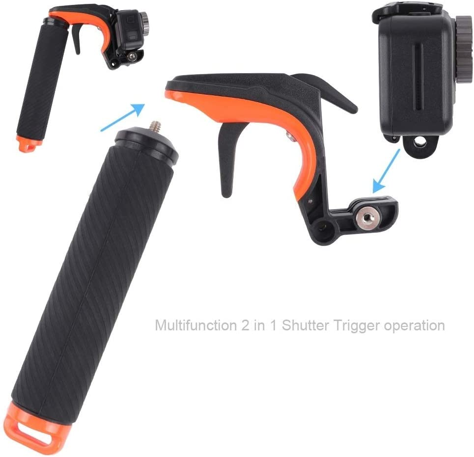 Shutter Trigger Floating Hand Grip Diving Buoyancy Stick with Adjustable Anti-Lost Strap /& Screw /& Wrench for DJI Osmo Action Durable