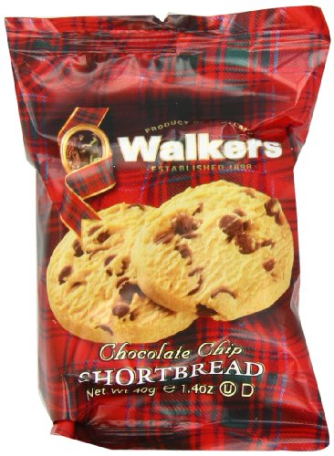 Walkers Shortbread Chocolate Chip, 2-Count Cookies (Count of 20) (Wrapped Chocolate Custom)