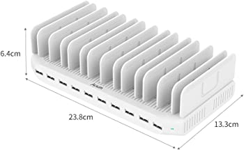 Alxum 96W 10-Port PowerPort USB Charging Station