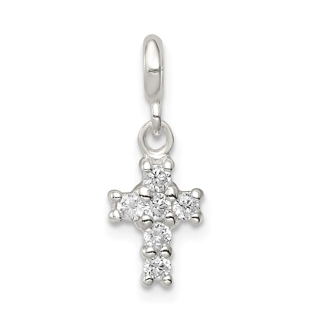 ICE CARATS 925 Sterling Silver Cubic Zirconia Cz Cross Religious Enhancer Necklace Pendant Charm Latin Fine Jewelry Ideal Gifts For Women Gift Set From Heart