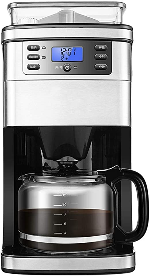 SCYMX 10 Tazas de Goteo Cafetera, Grind y Brew máquina