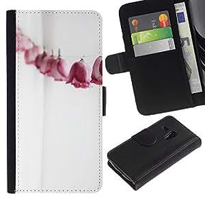 WINCASE (No Para S3 i9300) Cuadro Funda Voltear Cuero Ranura Tarjetas TPU Carcasas Protectora Cover Case Para Samsung Galaxy S3 MINI 8190 - papel de arte arrugado blanco limpio