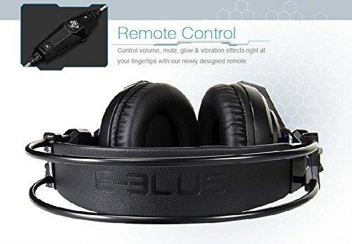 Amazon.com: E-Blue EHS950 FPS Auroza 7.1 Surround MIC 4D Sound Remote Control Vibration USB Noise Isolation Ergonomic Comfortable Gaming Headset LED Blue ...