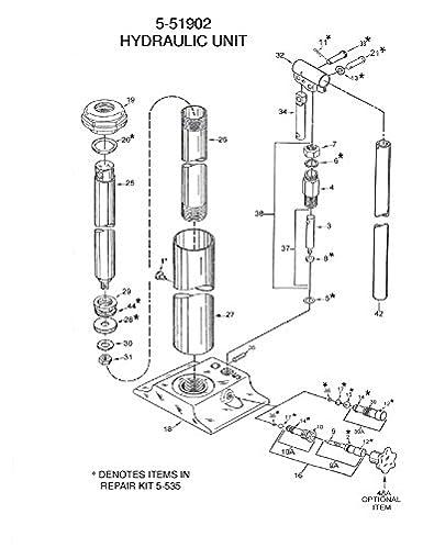 Us Jack Long Ram Hydraulic Jack 5 Ton5 51902 Amazon Com