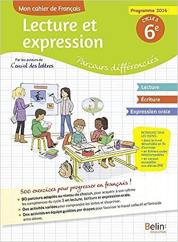 Amazon Fr Mon Cahier De Francais Lecture Et Expression
