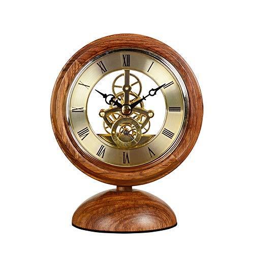 TAO European Retro Clock Creative Desktop Ornaments Hedgehog Rosewood Solid Wood Decorative Clock Redwood Transparent Clock
