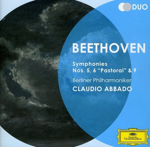CD : Claudio Abbado, Berliner Philharmoniker - Dg Duo-beethoven: Symphonies 5 6 & 9 (Italy - Import, 2PC)