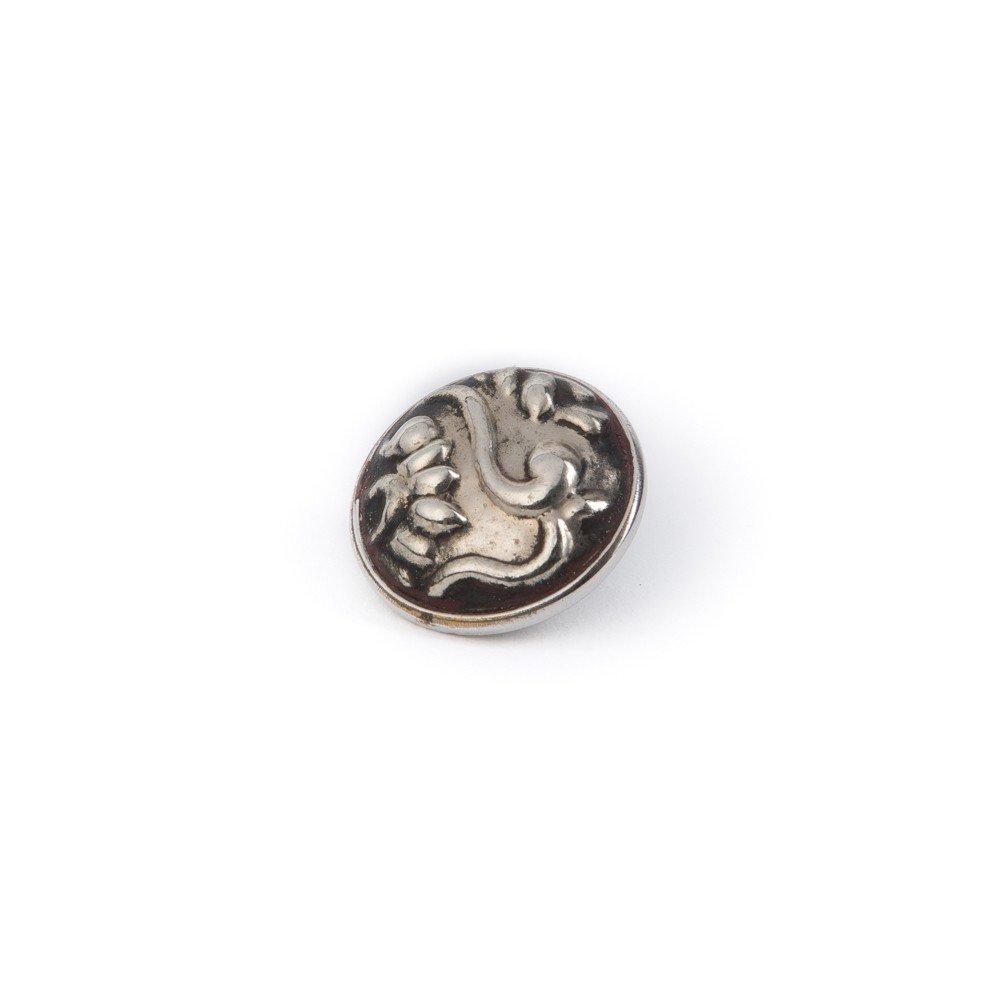 Noosa Chunk 105 Batik Stamp silver-metal