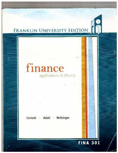 Finance: Application Theory - With Access Code-fina 301