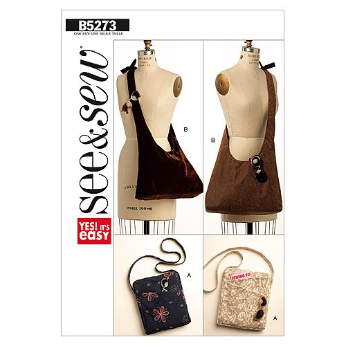 Butterick Patterns B5273 Handbags, One Size Only