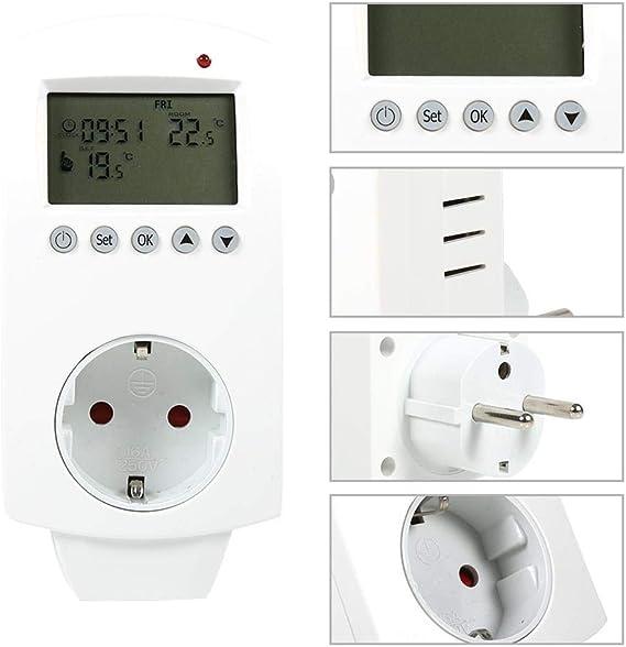 01 FTVOGUE spina programmabile termostato da inserimento regolatore di temperatura termostato digitale programmabile con uscita