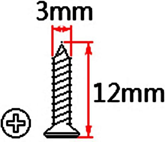 Artibetter 10 pz Chitarra Pickguard Piastra di montaggio Viti Cavit/à Jack Piastra di copertura Vite per Chitarra Basso Accessori di Ricambio 3 12mm Argento