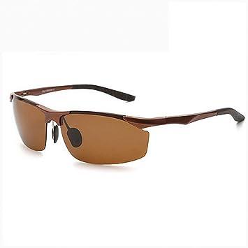 YANKAN Gafas de Sol de Conducción de los Hombres Medio Marco Gafas Polarizadas Retro Gafas Deportivas