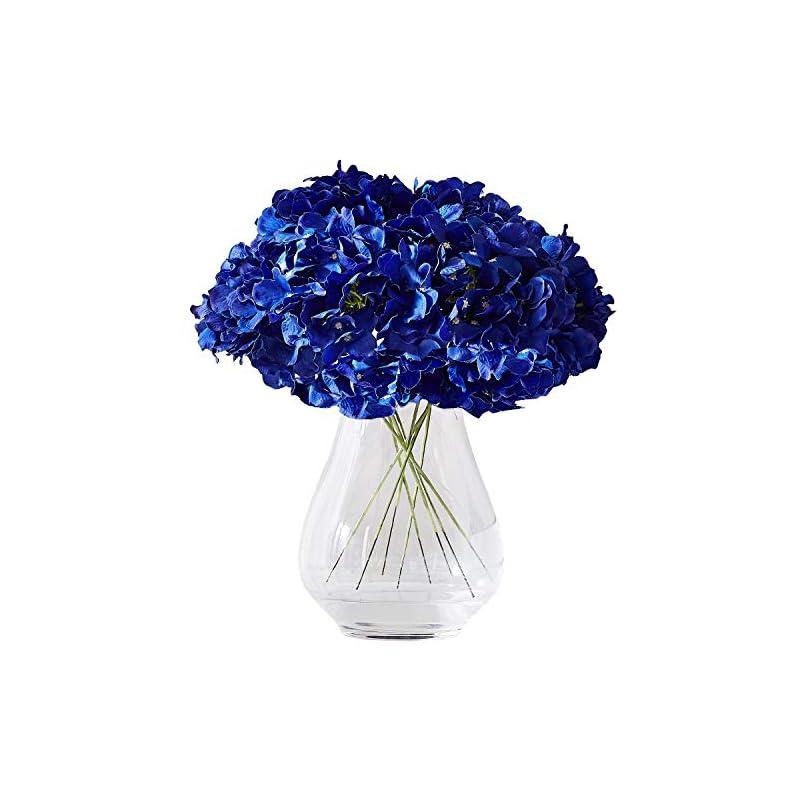 silk flower arrangements kislohum hydrangea silk flower heads 10 royal blue artificial hydrangea silk flowers head for wedding centerpieces bouquets diy floral decor home decoration with long stems
