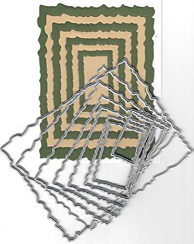 (Dies to die for Metal Craft Cutting die - Torn Edge Rectangle Nesting die Set)