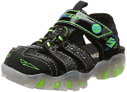 Skechers Infant/Toddler Boys' Super Hot Lights Street Lightz S,Black/Green,US 8